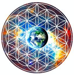 Blume des Lebens - Erde - Heilige Geometrie