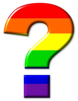 Rainbow flag gay question mark