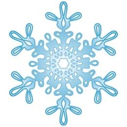 Schneeflocke, Schnee, Winter, Symbol, Vektor, blau, freigestellt
