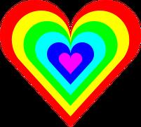 Regenbogen - Liebe - Herz