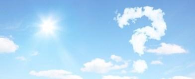 Fragezeichen am Himmel Panorama