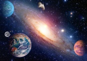Astrology astronomy Earth Moon Space Big Bang Solar System Planet creation. Elements of this Image - furnished by NASA *