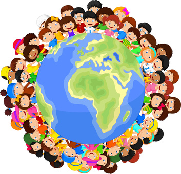 Multicultural - Children - Planet Earth - 1 -