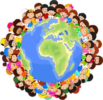 * E1NE MENSCHHEIT * Multicultural - Children - Planet Earth - 1 -